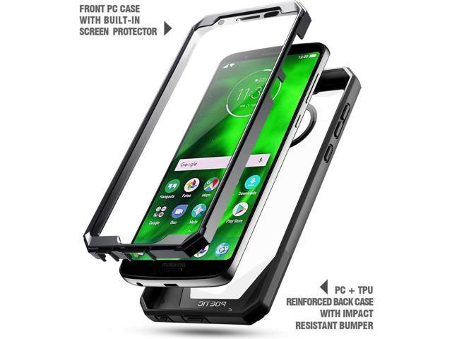 sports shoes 1e0d2 97c1d Case For Motorola Moto G6 Poetic?Guardian?Built-in-Screen Protector Case  Black - Newegg.com