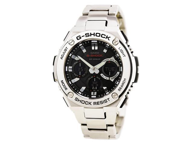 e33eb9325 Casio GSTS110D-1A Gent's Ana-Digi Black Dial Steel Dive Watch ...