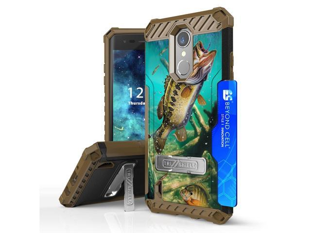For LG Aristo 2 Plus / Fortune 2 Tri Shield Hybrid Kickstand Case Bass Fish  - Newegg com