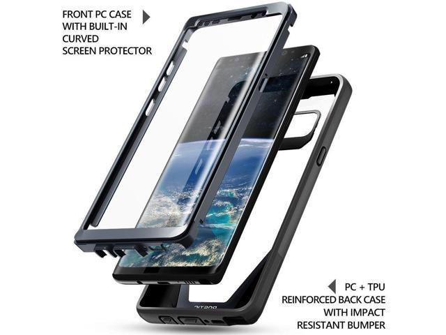 sale retailer d2fff 766d3 Poetic Guardian Built-in-Screen Protector Case for Samsung Galaxy Note 8  Black - Newegg.com
