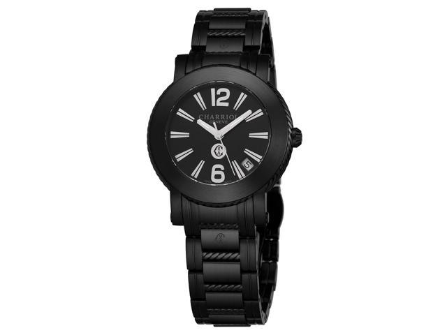 1700f688fbd Charriol Men s Parisi Black Dial Stainless Steel Quartz Date Watch  P33BMP33BM010