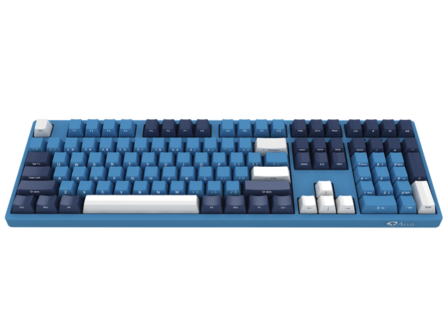 Akko 3108sp Ocean Star Full Size Gaming Mechanical Keyboard Cherry Mx Red Switch Double Shot Dye Sub Pbt Keycaps Nkro Detachable Usb Type C Wired Side Printed Carved Letter Blue White Newegg Com