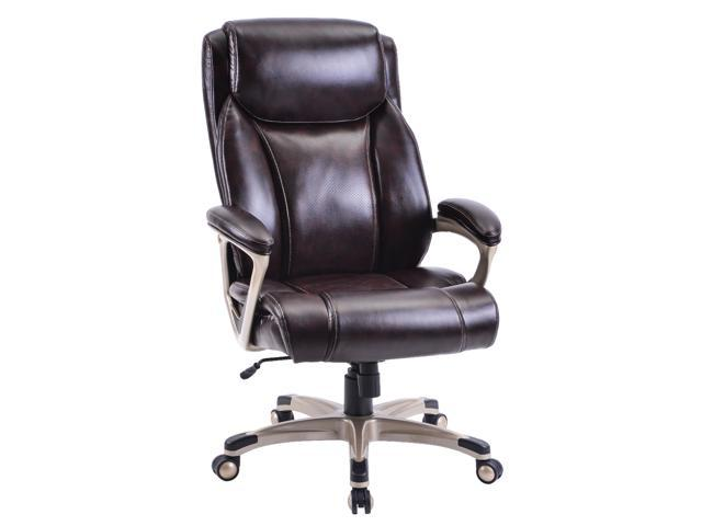 High-Back PU Leather Chair with Casters, Swivel, Adjustable - Sale: $200 USD (18% off)