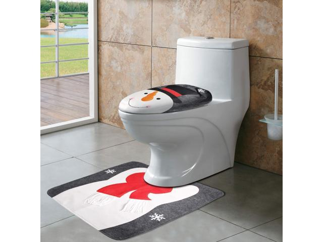 Magnificent Christmas Toilet Seat Cover And Rug Set Snowman Toilet Seat Cover For Christmas Bathroom Sets Snowman Toilet Cover Newegg Com Pabps2019 Chair Design Images Pabps2019Com