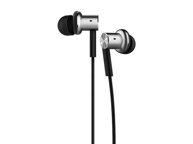 Xiaomi Mi In-Ear Headphones Pro Silver Dual Driver Earbuds with Mic, including 3 size earbuds