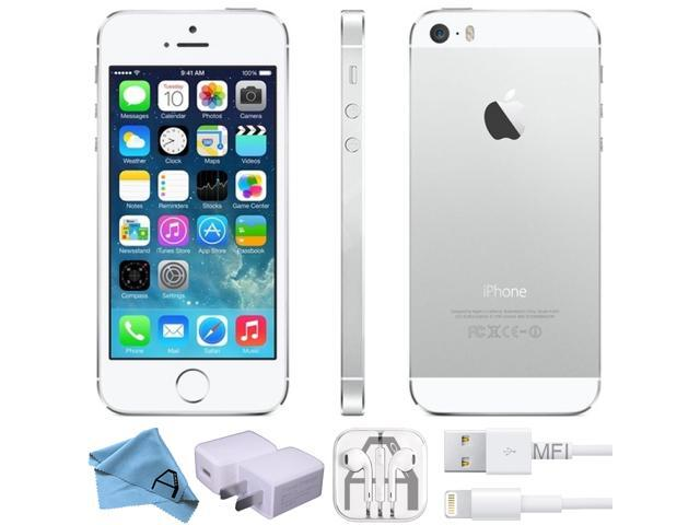 55f49f7883f668 Apple iPhone 5S Silver 32GB Factory 4G LTE Unlocked GSM Smartphone  (Certified RB)