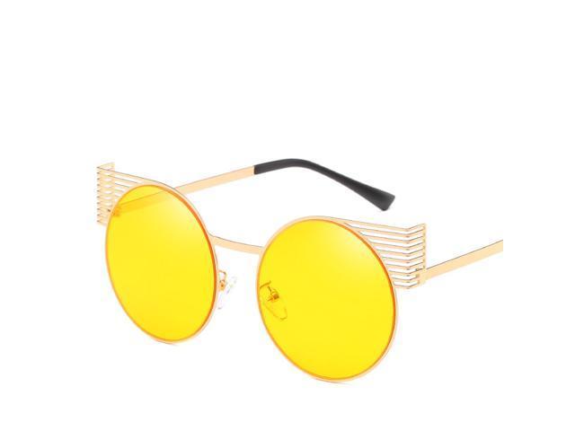 2d86ad1ec8 Wsunglass New personality round frame metal Cat Eye Sunglasses sunglasses  fashion retro man woman ocean sungla