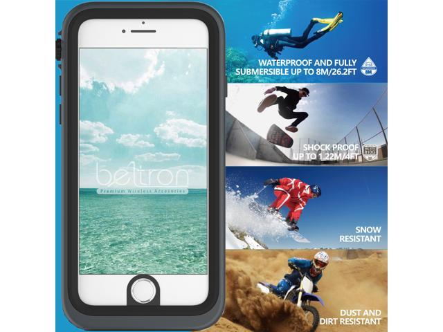 best service 46953 d5f57 BELTRON aquaLife Waterproof, Shock & Drop Proof, Dirt Proof, Heavy Duty  Case for iPhone 6/6S (IP68 Rated, MIL-STD-810G Certified) Features: 360° ...