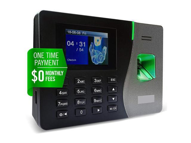 Timedox Silver Plus | $0 Monthly Fee | Fingerprint Scanner Time Clock For  Employees | Download Data Automatically | Dynamic Reports | Requires Pro