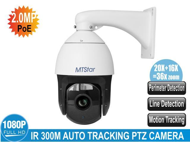 MTStar PoE IP smart auto tracking and analysis PTZ Camera 1080p night  vision action camera 20x optical zoom ip camera security system - Newegg com