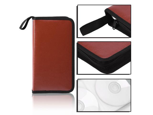 80 Disc Large Capacity Portable Pu Leather Cd Dvd Vcd Storage Case Bag Organizer Holder