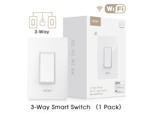 WiFi Smart Light Switch Double Control Light Fan 3-Way Control Remote  Control Works with Alexa and Google Home No Hub Required - Newegg com