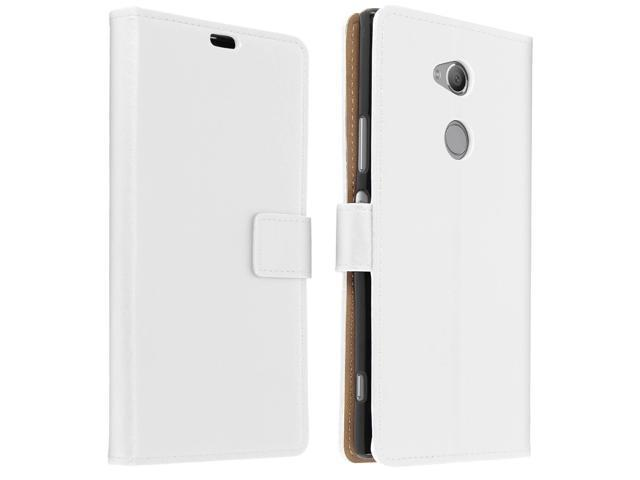 new product 80733 180c4 Slim Case, flip book cover, stand wallet case for Sony Xperia XA2 Ultra -  White - Newegg.com
