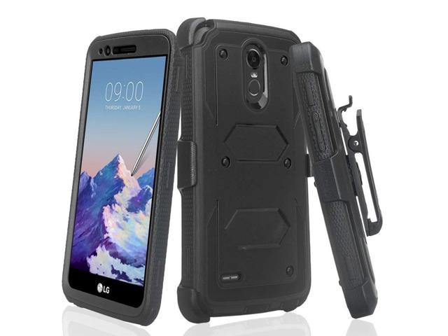 size 40 d84de e2204 Compatible for LG Stylo 4 Case, LG Stylus 4 Case, LG Q Stylus Case, Air  Cushion Corners Shockproof Case with Belt Clip Holster & Built-in Screen ...