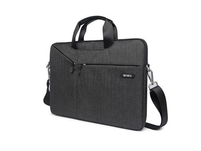 premium selection 02614 fe3b0 WIWU 13.3 inch Laptop Sleeve Case Messenger Bag Waterproof Shockproof  Shoulder Bag Briefcase Handles Strap MacBook Air/Pro Retina (13.3 inch,  Black) - ...