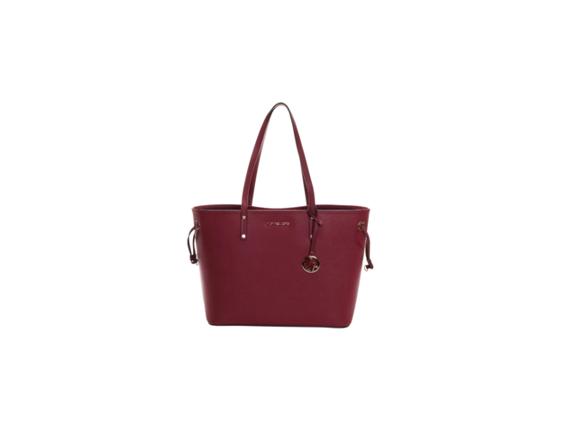 a2bba9d64262 Michael Kors Jet Set Travel Large Drawstring Tote Mulberry Leather ...