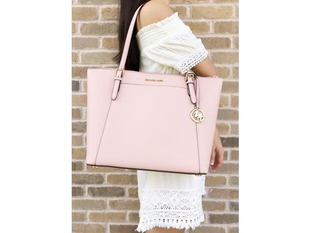 0d69fec5fff8 Michael Kors Ciara Large East West Top Zip Tote Pastel Pink Saffiano ...