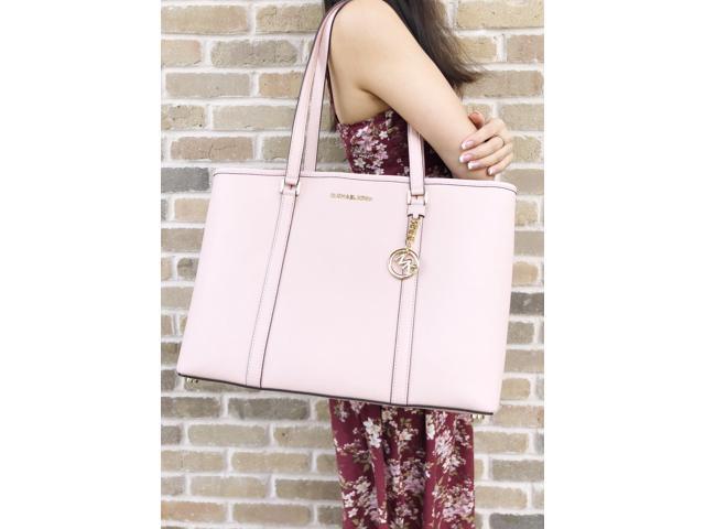 42acacea685c Michael Kors Sady Large Multifunctional Top Zip Tote Pastel Pink Laptop Bag