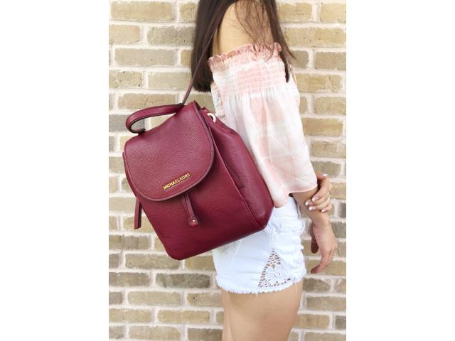 4e3f0dbfa340 Michael Kors Riley Medium Backpack Mulberry Burgundy - Newegg.com