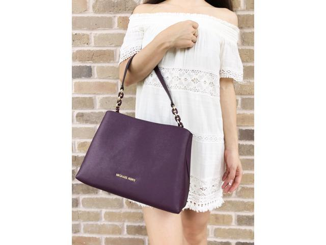 993ce40c73ff Michael Kors Large Sofia Portia Satchel Crossbody Damson Purple ...