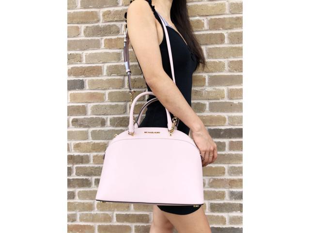 7634da690373 Michael Kors Emmy Large Cindy Dome Satchel Bag Blossom Pink ...