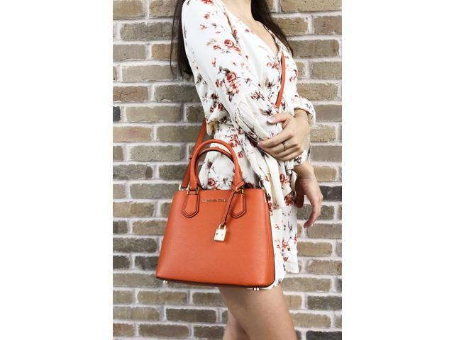687c9acaf4b6 Michael Kors Adele Mercer Medium Messenger Bag Orange ...