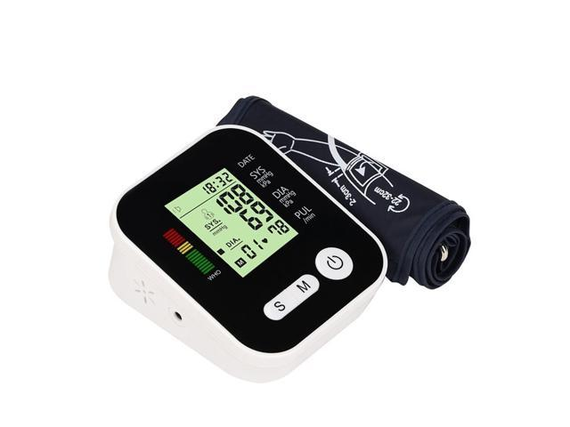Digital Lcd Upper Arm Blood Pressure Monitor Heart Beat Meter Machine Tonometer for Measuring Automatic Home