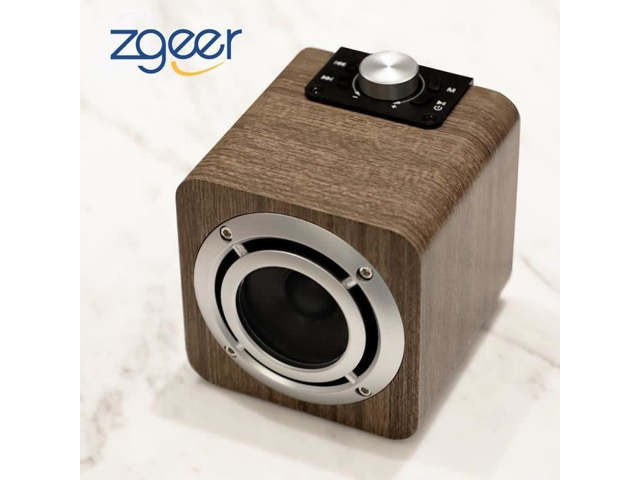 Portable Wooden Bluetooth Stereo Hifi Speaker Home Mini Chargeable Audio Player