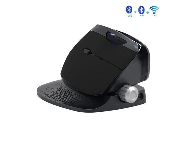 9d312571552 Zgeer 2.4G Wireless + Bluetooth 3.0/4.0 Multi-Mode Mouse Rechargeable  Ergonomic Vertical