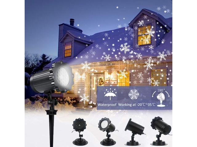 Christmas Projection Lights.Muzili Snowfall Projector Lights Christmas Led Snowflake Outdoor Projector Show With Wireless Remote Waterproof Timing Function Rotating