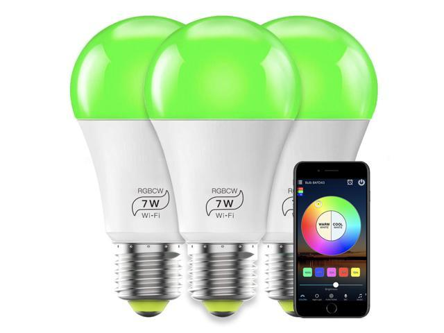 MagicLight Smart Light Bulb (60w Equivalent), A19 7W Multicolor 2700k-6500k Dimmable WiFi LED Bulb, Compatible with Alexa ...