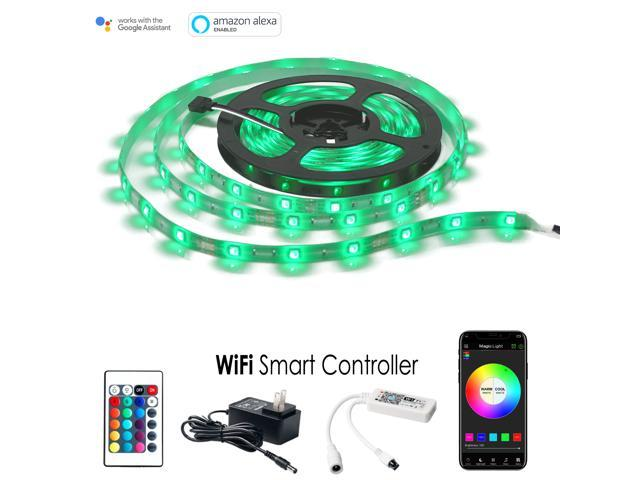 wholesale dealer 87b44 adcbe MagicLight LED Strip Lights, WiFi Wireless Smart Phone Controlled Light  Strip Kit 16.4ft 150 LEDs 5050 Waterproof IP65 LED Lights, Works with  Android ...
