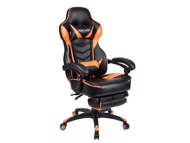Amazing Elecwish Computer Gaming Office Chair Swivel Desk Seat Ergonomic Leather High Back Orange Ncnpc Chair Design For Home Ncnpcorg