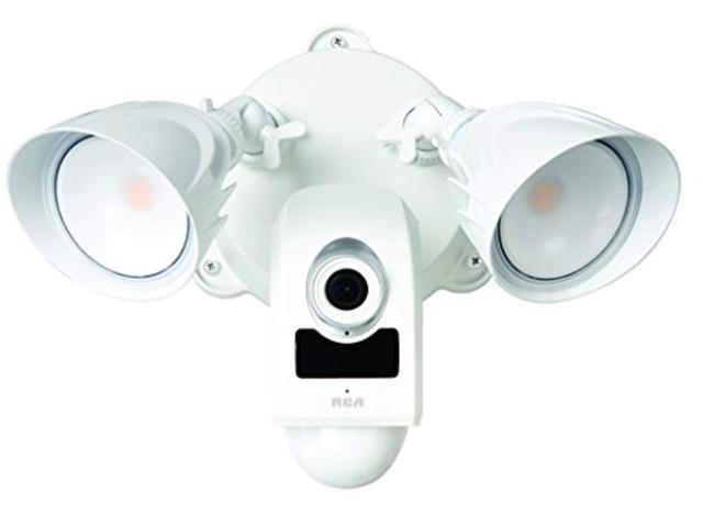RCA Home Security LED Flood Light Camera - Motion Sensor ...