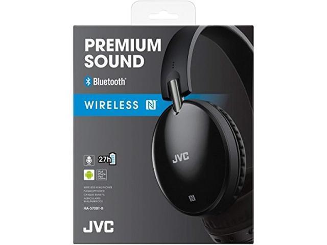 c01bc081636 JVC HAS70BT BLACK Premium Sound Wireless Bluetooth Around Ear Headphone  with NFC - Newegg.com