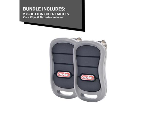 2 Pack Bundle Genie Intellicode 3 Button Garage Door