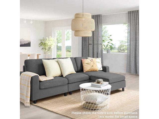 Bossin Convertible Sectional Tiny Sofa Couch for Living Room, - Sale: $319.99 USD (30% off)