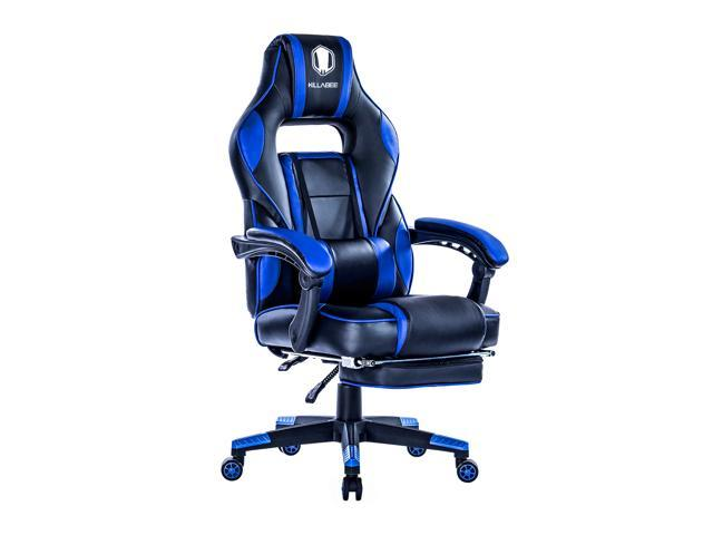 Pleasant Killabee Reclining Memory Foam Racing Gaming Chair Ergonomic High Back Racing Computer Desk Office Chair With Retractable Footrest And Adjustable Unemploymentrelief Wooden Chair Designs For Living Room Unemploymentrelieforg