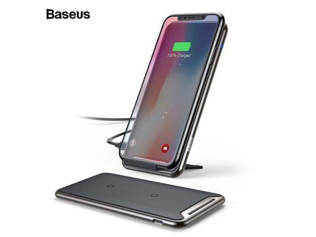 buy online 80a2e ac8e6 Baseus 10W QI Wireless Charger For iPhone Xs Max Samsung S10 Xiaomi Mi 9  Fast Wirless Wireless Charging Pad Docking Dock Station - Newegg.com