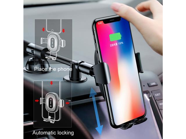 Baseus QI Wireless Charger Gravity Car Phone Holder for iPhone 8 Samsung S9  Fast Wireless Charging Charger Car Mount Phone Stand - Newegg com