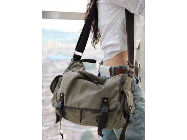 Vintage Canvas Messenger Bag Book Laptop Shoulder School Ladys Women Men New