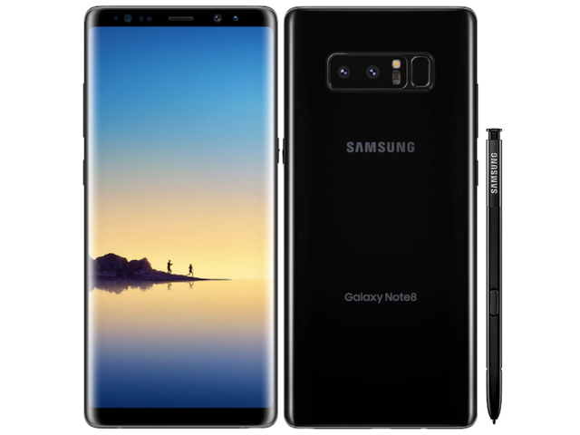 Samsung - Galaxy Note 8 - 64GB - Factory Unlocked (GSM/CDMA) - Midnight Black - Excellent A+ Condition - One Year Warranty!
