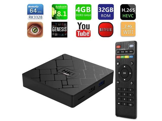 Android 8 1 HK1 MAX 4+32G Rk3328 Rockchip 4G RAM 32G ROM TV Receiver 4K  1080P WiFi Media Google Play Store IPTV YouTube for Home Theater Playing  Games