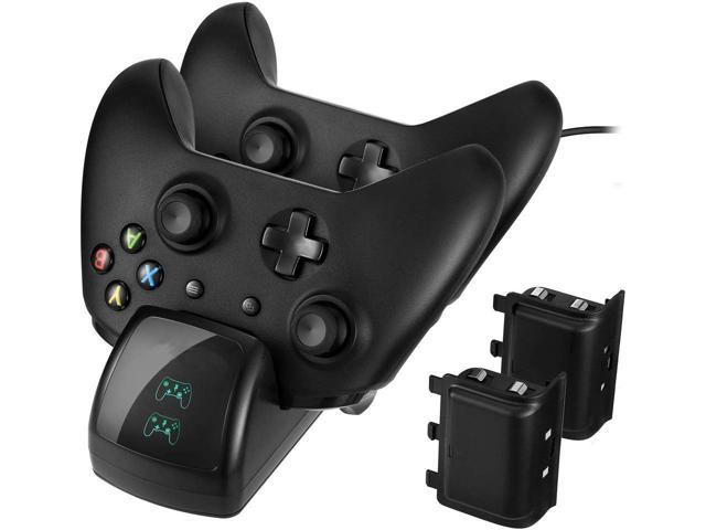 Xbox One Controller Charger, Slopehill Xbox One / One S / One Elite  Wireless Controller Charger Charging Station Stand Dock Adapter With 2
