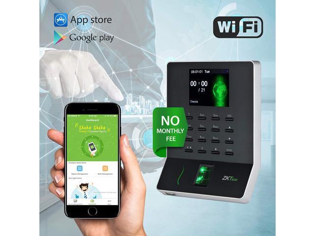 Biometric Fingerprint Time Attendance Terminal Time Clock Attendance  Machine Payroll Recorder Employee Checking-in Recorder - Newegg com