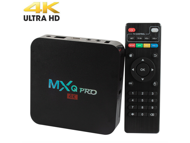 MXQ Pro Android 7.1 Smart TV Box 8G Quad Core 4K HD 2.4GHz WiFi Media Player