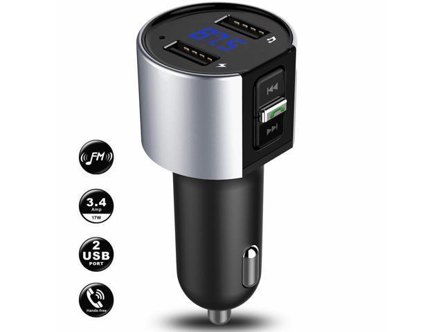 Bluetooth Car Cigar Plug FM Transmitter MP3 Player Radio Adapter Kit USB Charger