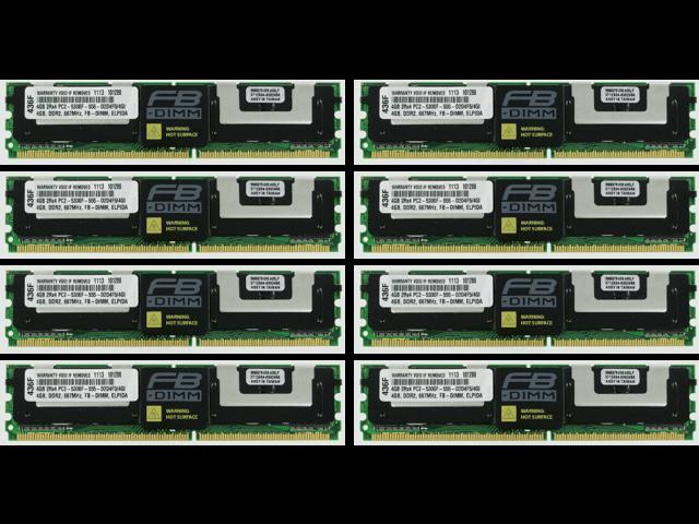 Server RAM 32GB 8x 4GB PC2-5300F FB DIMM FIT Dell PowerEdge 1900 1950 2900 2950