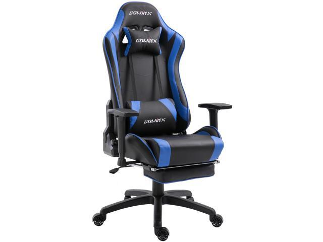 Dowinx Gaming Chair Ergonomic Racing Style Recliner With Massage Lumbar Support Office Armchair For Computer Pu Leather E Sports Gamer Chairs With