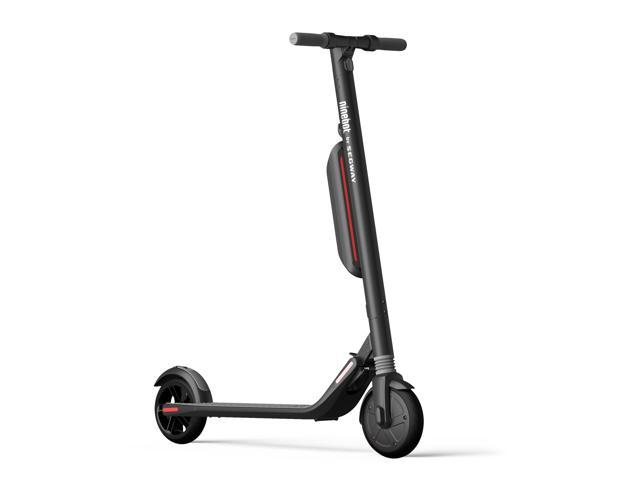 Refurbished: Ninebot KickScooter by Segway ES3 with Dual Battery Folding Electric KickScooter, w/ External Battery, Dark Gray